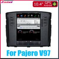 ZaiXi 10.4 Tesla Type Android For Mitsubishi Pajero V97 2006~2015 Car Android DVD Player Navigation GPS Radio Multimedia system