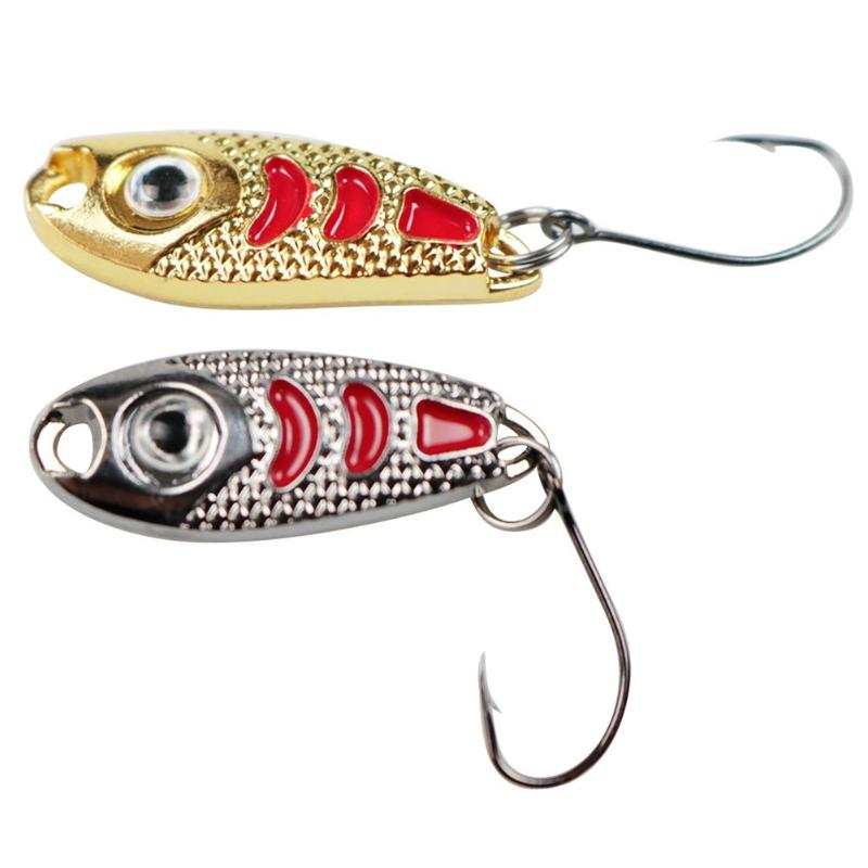 Metal Spoon Fishing Lure Spinner Sequins Paillette Hard Baits w/Single Hook