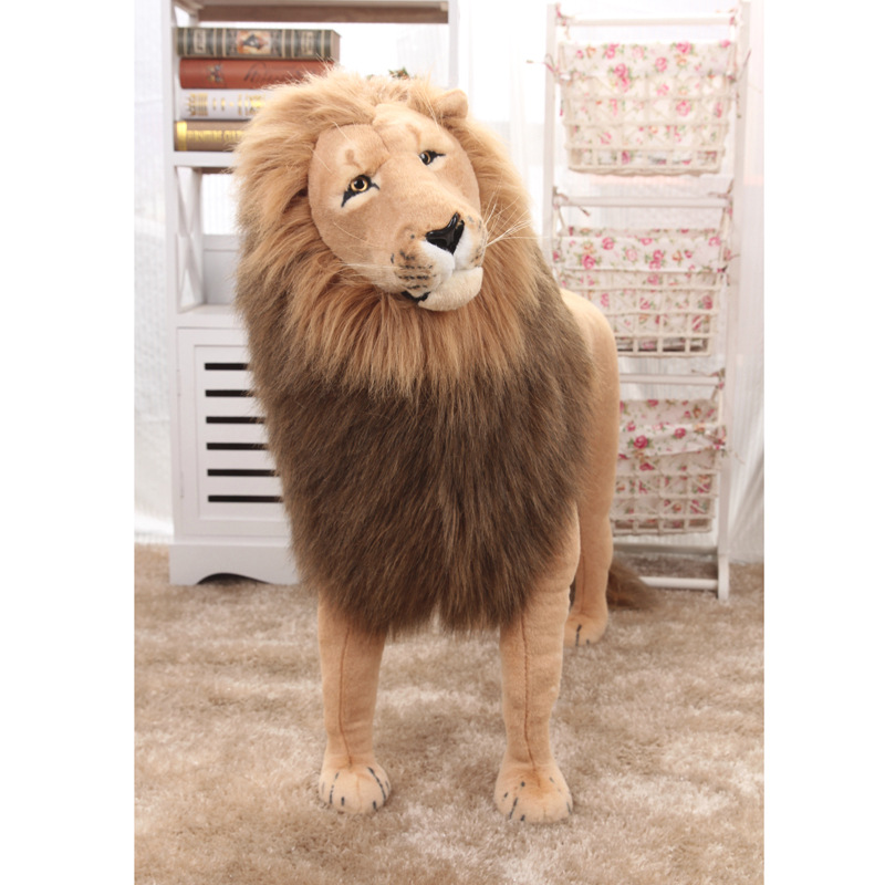 Huge Stuffed Toys Simulated Lion Large Plush Toys Children High Quality Lion Stand Christmas Gift Home Decoration 1.1m AA50MR - 4