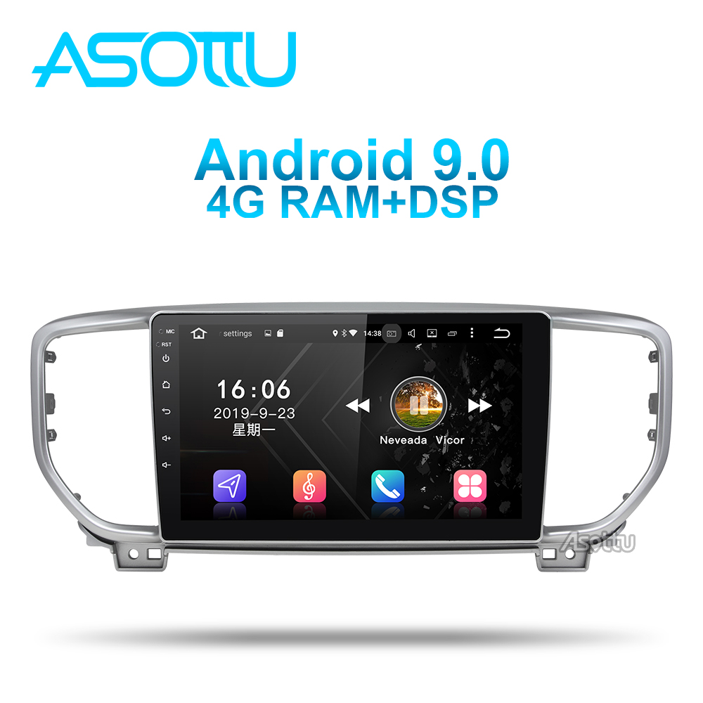 Asottu KI606 android 9.0 PX6 car dvd gps for KIA sportage 4 2018 2019 gps navigation 1 din car stereo head unit car stereo image