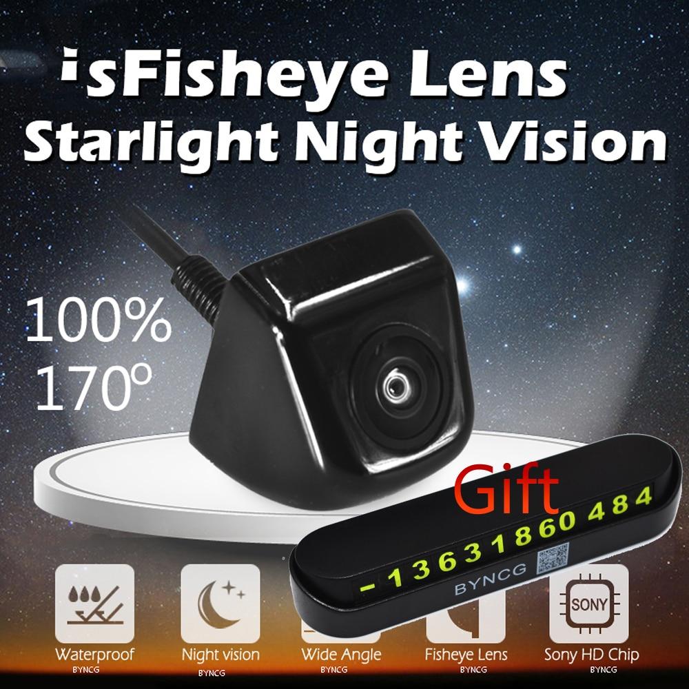 Car Camera Vehicle Rear Front View Camera 1080P 170 Degree Fish Eye Lens for Parking Reverse Backup Monitor Free Parking Card