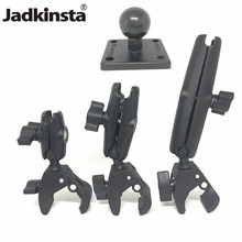 Jadkinsta Tough Claw Mount with Double Socket Arm and Round AMPS Base Adapter for 1 Inch Mount Gadgets Extension Arm