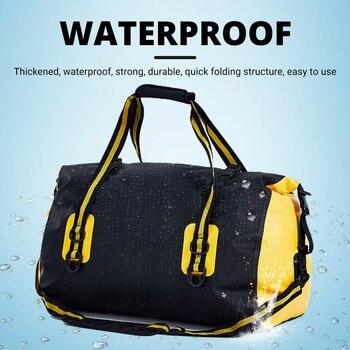 POLE Waterproof Motorcycle Rear Tail Bag Travel Dry Bag Motorbike Luggage Backpack Motorcycle Seat Bag Cycling Hiking Bag