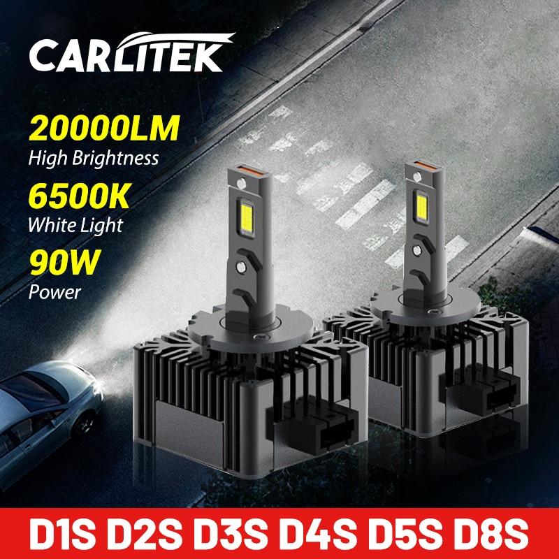 Carlitek D3S HID Headlight 20000LM CSP Chip HID D1S D2S D4S D5S D8S 6500K 90W Wireless Car Xenon Bulbs Plug&Play High Bright 12V
