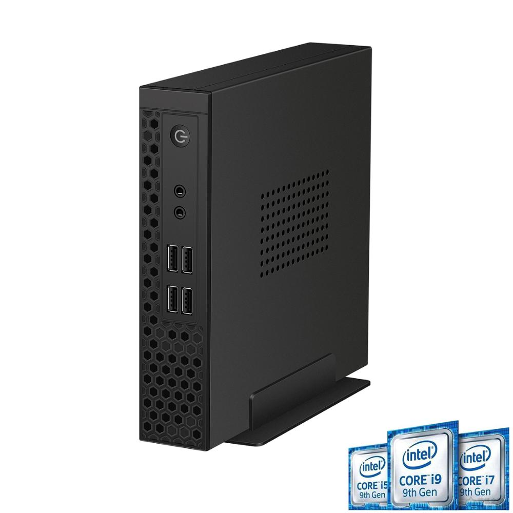 Chatrey s1 mini pc intel desktop nível core i3 9100 i5 9400 i7 9700 desktop computador 6 núcleo fino cliente