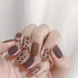 Image 4 - Pegatina falsa para uñas diseño 3D leopardo, estilo Sexy, arte largo, gran oferta, 24 piezas, 2020