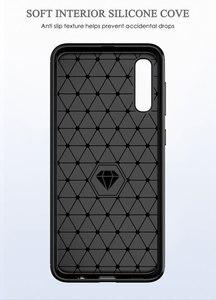 Image 4 - Karbon yumuşak silikon telefon kılıfı için Samsung Galaxy A50 A10 A20 A30 A40 A70 M20 M30 M40 Fiber kapak tampon galaxyA50 galaxy 2019
