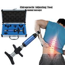 Correção manual do activador da coluna da terapia de ajuste do corrector de quiropraxia massager 6 níveis cuidados de saúde manual conjunto arma