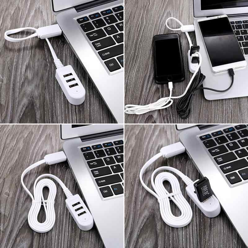 3 USB Multi-Fungsi 3A Charger Converter Ekstensi Line Ekspansi Multi Port Hub