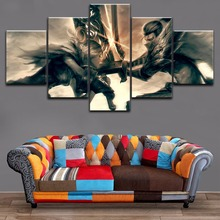 Canvas Print Painting 5 Piece League Of Legends Riven And Yasuo Modular Picture For Modern Decor Bedroom Living Room Wall Art