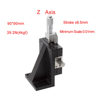 Z Axis 90*90mm Manual Displacement Vertical lift fine tuning platform Cross Roller Guide Linear Stage Sliding Table PLV90