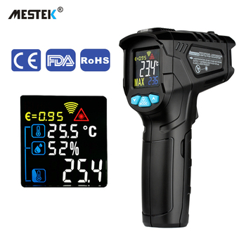 MESTEK Digital Infrared Thermometer Laser Temperature Meter Non-contact Pyrometer Imager Hygrometer IR termometro thermometers infrared thermometers non contact digital ir thermometer distance to spot size 20 1 uni t ut302c