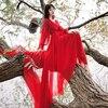 Luxury Red & White Chiffon Long Dress For Elegant Lady Gorgeous V-Neck Lanter Sleeve Floor Length Bohimian Beach Dresses Vestido 2