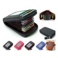 Cartera organizadora de viaje, viaje, Banco de tarjetas, pasaporte, portatarjetas, caja de Bolsa de tarjeta de crédito con cremallera