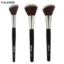 MAANGE brocha redonda para maquillaje, brocha para colorete en ángulo, para Contorno de mejillas y nariz, utensilio de cosmética