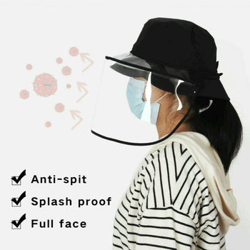 Kids/Adults Anti-spitting Protective Mask Cover Anti-Virus Fisherman Hat Anti Flu Virus Protection Hat With Mask Face Cover