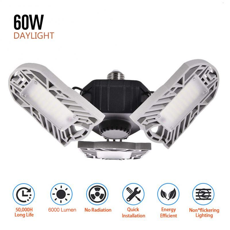 360 Degrees 60W 80W Triple Garage Light Glow Deformable Light Indoor Garage Light Premium 6000 8000 Lumens LED Ceiling Light New