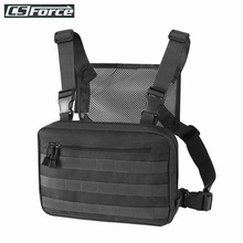 ヒップホップ軍事戦術胸男性調節可能な多機能モールツールポーチショルダーバッグ戦術的なベストバッグ