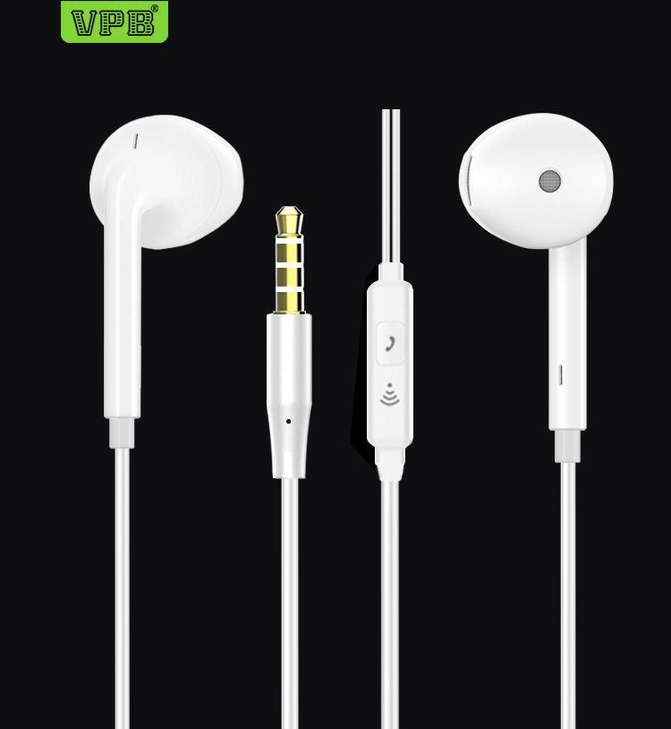 VPB S26 Sport Earphone Wired Super Bass 3.5mm Crack Earphone Earbud with Microphone Hands Free for Samsung