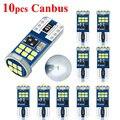 LYMOYO Canbus 10 шт. T10 светодиодный W5W светодиодный 18 светодиодный 2016smd светодиодный без ошибок 194 168 интерьер инструмент для чтения светильник ламп...