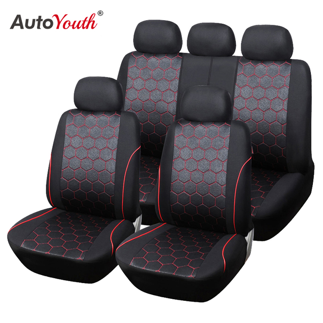 $ US $28.99 AUTOYOUTH Soccer Ball Style Car Seat Covers Jacquard Fabric Universal Fit Most Brand Vehicle Interior Accessories Seat Covers