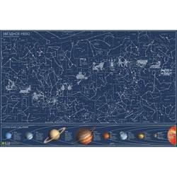 خريطة النجوم يتوهج في الجدار المظلم
