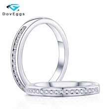 DovEggs özelleştirmek 18K beyaz altın 5ct 9*11mm GH renk yastık nişan yüzüğü kadınlar için düğün hediyesi ışık halkası
