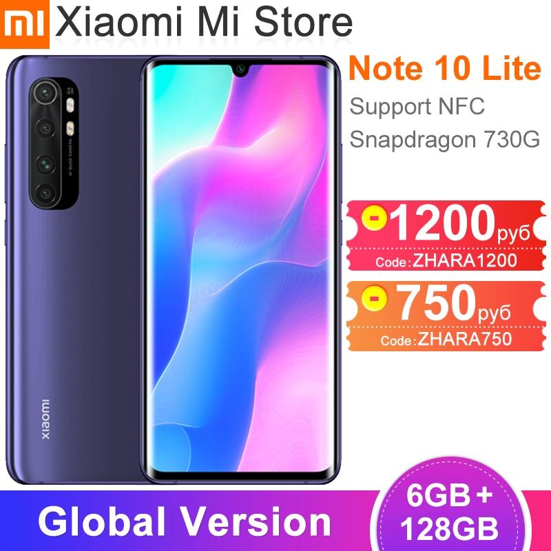 Global Version Xiaomi Mi Note 10 Lite Smartphone 6GB RAM 128GB ROM NFC Snapdragon 730G 64MP