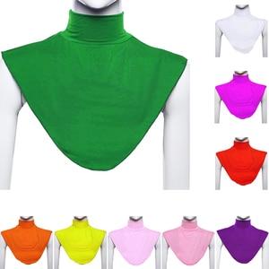Image 1 - Ramdan Women Muslim Hijab Islamic Turtleneck Neck Cover False Collar Wrap Apparel Moslem Loop Scarf Fake T shirt Collar  20 Colo