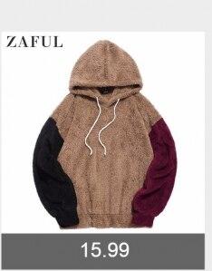 Zaful/Осенняя цветная толстовка с капюшоном и карманами кенгуру