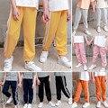 От 3 до 12 лет, детиские тонкие длинные теплые брюки для девочек толстые однотонные брюки повседневные спортивные брюки для маленьких мальчи...