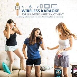 Image 5 - Microphone Wireless Bluetooth Karaoke Microphone Professiona Speaker Handheld Microfone Player Singing Recorder Mic microfono