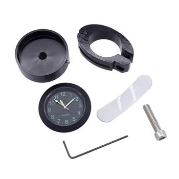 Reloj para manillar de motocicleta resistente al agua metálico de 8 ''-10 ', hebilla para mesa, manillar de bicicleta, reloj de cuarzo, motocicleta, vehículo eléctrico modificado