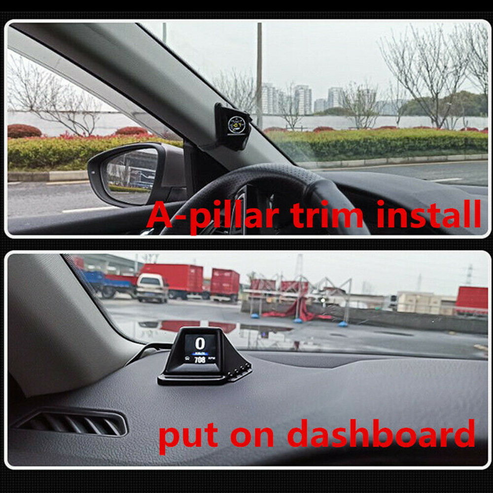 Universal hud head-up display obd gps medidor inteligente dashboard digital