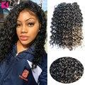 SAMBRAID, 18 дюймов, вязаные волосы для наращивания, синтетические, водяные, волнистые, плетенные волосы, богемные, вязаные косички, Золотая красо...
