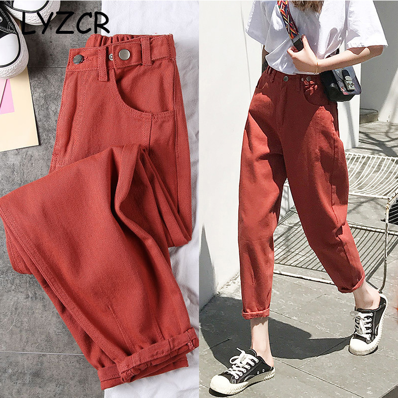 White Women Jeans Pants Spring 2020 Black Boyfriends Jeans For Women Loose Harem Jeans Denim Pants Trousers Summer Women's Jeans