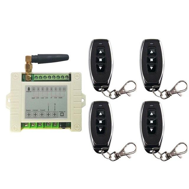 433mhz RF 220V elektrikli kapı/perde/kepenkler limit kablosuz radyo uzaktan kumanda anahtarı İleri ve ters motorları