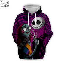 Halloween Jack Skellington sally Men 3d Hoodies women lovers couple Sweatshirt skull print tshirt Corpse Bride zipper pullover майка print bar jack skull