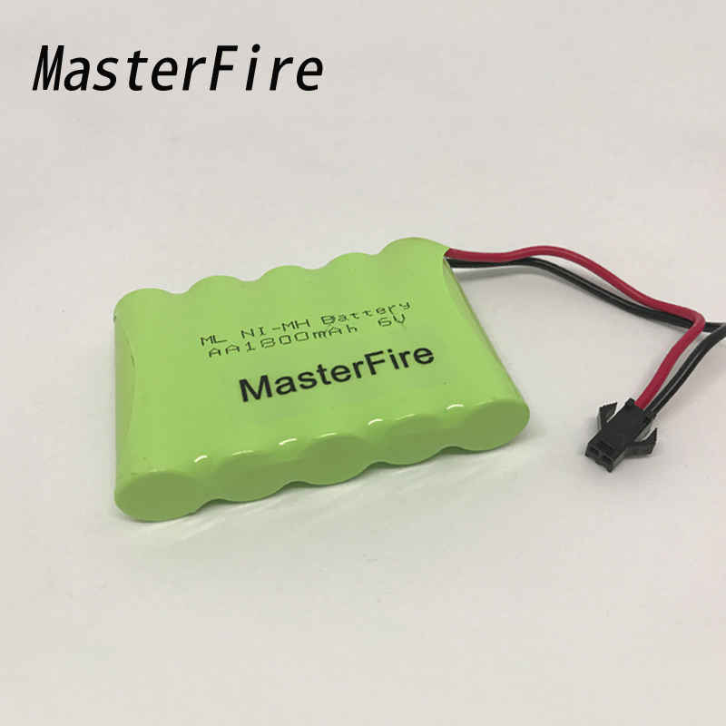 MasterFire Original 6V AA 1800mah Ni-MH Battery Pack For Rc toys Cars Tanks Robots Boats Truck Guns Rechargeable NiMH Batteries image