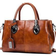 Oil Wax leather luxury handbags women bags designer ladies h