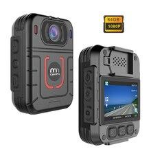 Cammpro m831 hd 1296p câmera do corpo da polícia 64gb 13 horas de gravação wearable câmera visão noturna segurança guarda gravador pessoal