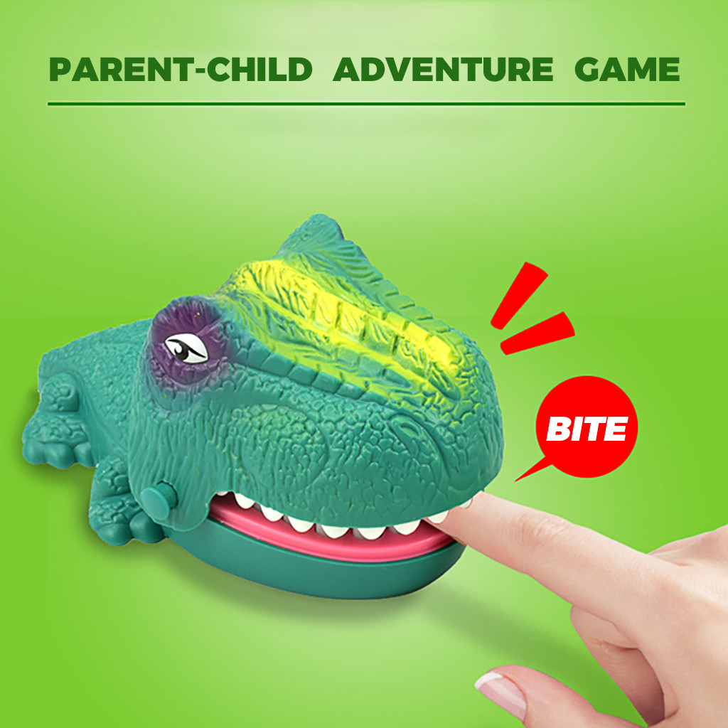 Luminous Dinosaur Game Classic Spoof Biting Finger Plastic Dinosaur Toy Funny Party Game  Kids Toys Juguetes Zabawki игрушки