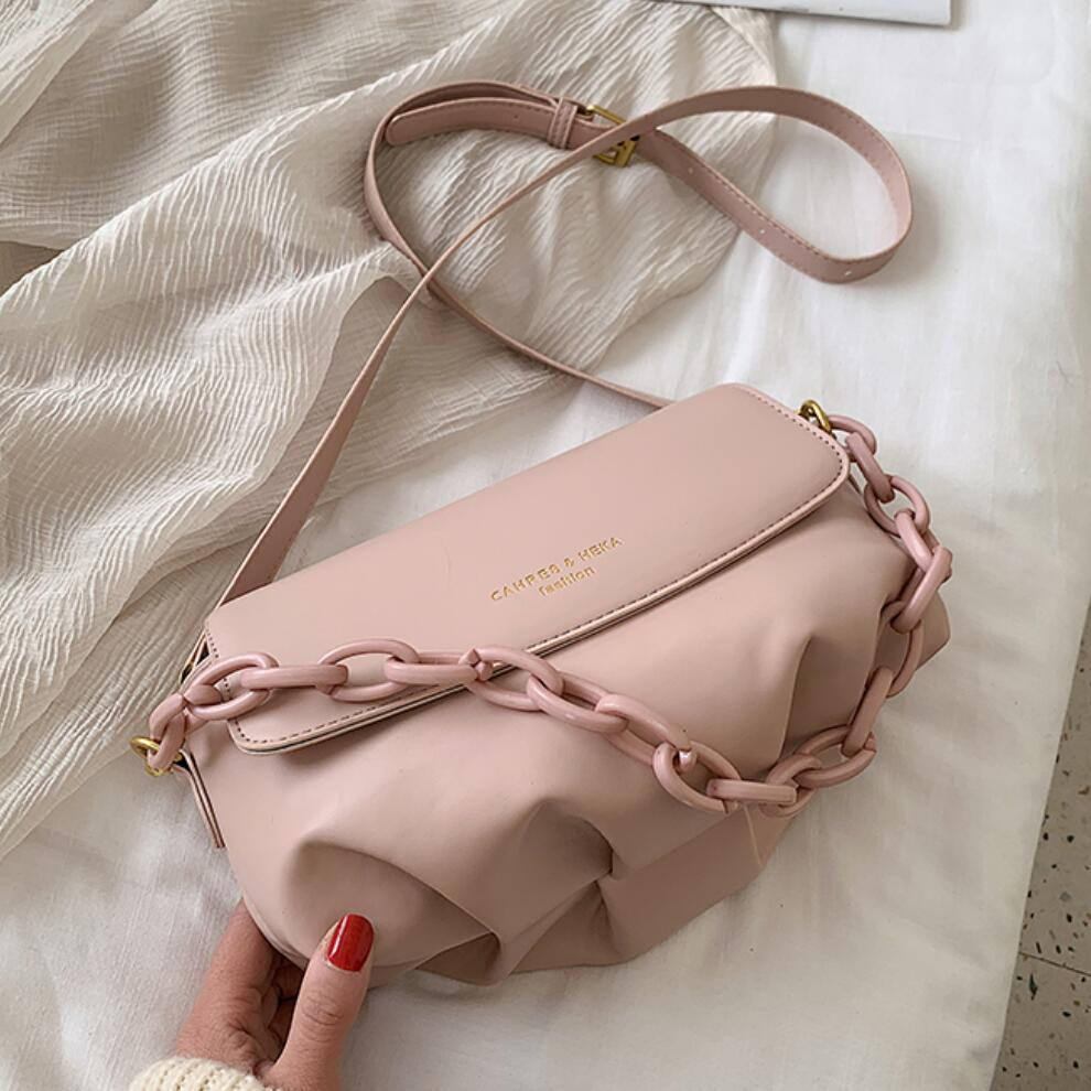 Thick Chain Design Pu Leather Shoulder Bags For Women 2020 Female Small Messenger Bag Lady Mini Cross Body Handbags