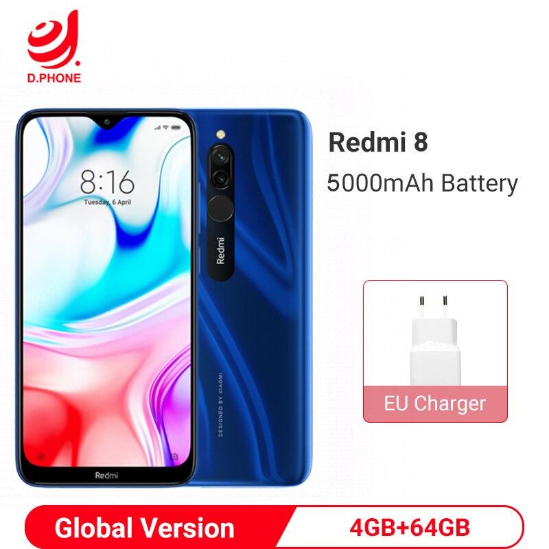 Globale Version Xiaomi Redmi 8 4GB 64GB Smartphone Snapdragon 439 Octa Core 12MP Dual Kamera 5000mAh Batterie handy