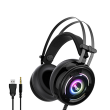 Ipega Wired Gaming Headset Headphone With Microphone Mic RGB Earphones Stereo Surround-Sound Wired for PS4/Xbox-One/N-Switch PC sades sa 810 gaming headset 3 5mm wired stereo ear headphone with microphone for pc laptop ps4 xbox one game head phones