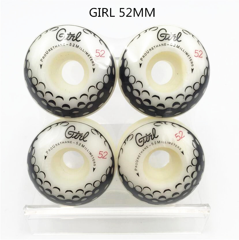 Sports & Entertainment ... Roller & Skateboard ... 32377458537 ... 4 ... Pro Skateboard Wheels 51/52/53/54mm With Multi Graphics Pu Sakte Wheels Girl&Element 4pcs/Set For Skateboard Deck Board ...