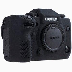 Image 1 - Силиконовый чехол для Fuji X H1 XH1, цифровой фотоаппарат высокого качества, текстурная поверхность, защитный чехол для FUJIFILM XH1 X H1