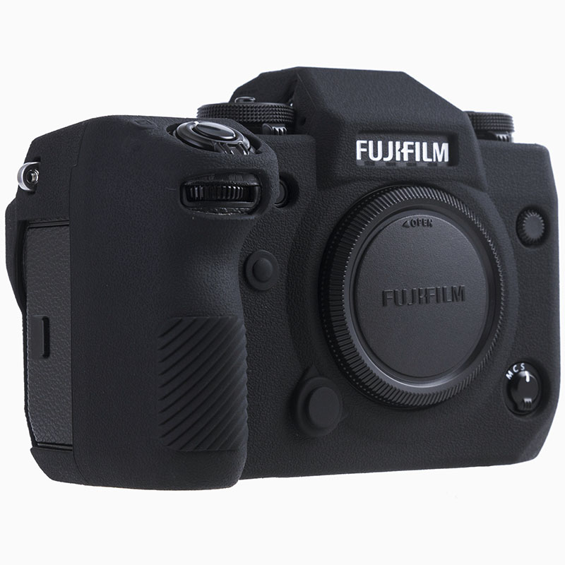 Silicone Case For Fuji X-H1 XH1 Digital Camera High Grade Litchi Texture Surface Protective Body Cover For FUJIFILM XH1 X-H1