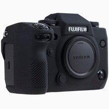 Silicone Case For Fuji X H1 XH1 Digital Camera High Grade Litchi Texture Surface Protective Body Cover for FUJIFILM XH1 X H1