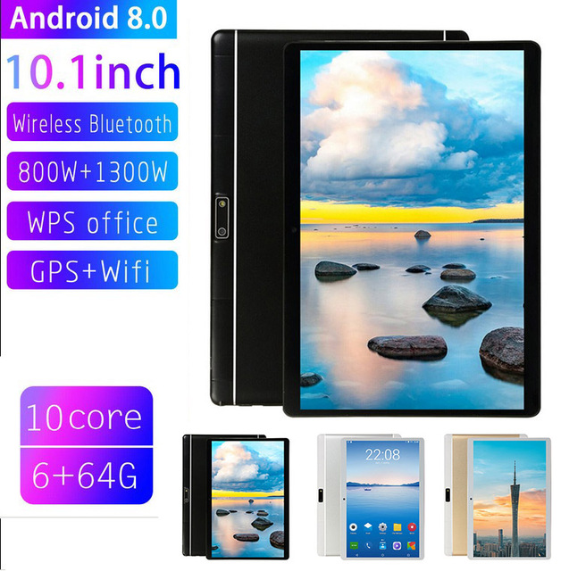 Ten Core 10.1 Inch HD Game Tablet Computer PC GPS Wifi Dual Camera for Android 8.0  PUO88